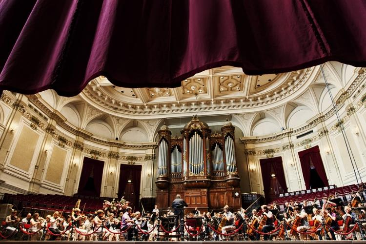 The Concertgebouworkest in rehearsal at the Amsterdam Concertgebouw